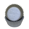 Silver Grey Mini Cupcake Liners Baking Cups