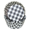 Black White Gingham Standard Cupcake Liners Baking Cup