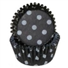Black White Dots Mini Cupcake Liners Baking Cups