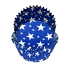 Blue White Stars Standard Cupcake Liners Baking Cup