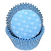 Light Blue White Polka Dots  Standard Cupcake Liners Baking Cup