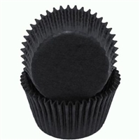 Black Glassine Standard Cupcake Liners Baking Cup