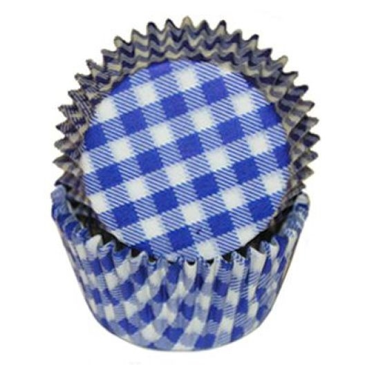 Blue Gingham Standard Cupcake Liners Baking Cup