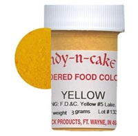 Dry Powder Yellow Food Coloring 3 grams