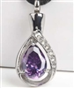 Purple Teardrop Cremation Pendant (Chain Sold Separately)