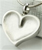 Pressed Heart Cremation Pendant (Chain Sold Separately)