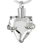 Clear CZ Heart Cremation Pendant (Chain Sold Separately)