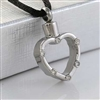 CZs Around Open Heart Cremation Pendant (Chain Sold Separately)
