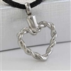 Twisted Heart Cremation Pendant (Chain Sold Separately)