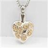 Splash Of Gold On Heart Cremation Pendant (Chain Sold Separately)