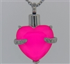 Pink Heart Cremation Pendant (Chain Sold Separately)