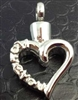 """I Love You"" Along Edge Of Open Heart Cremation Pendant (Chain Sold Separately)"