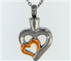 Hugging Hearts Cremation Jewelry Pendant (Chain Sold Separately)