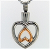 Heart Turned Upside Down Cremation Pendant (Chain Sold Separately)