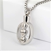 """I Love You"" Dripping Hearts Cremation Pendant (Chain Sold Separately)"
