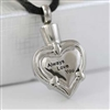 """Always Love You"" Heart Cremation Pendant (Chain Sold Separately)"