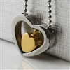 Heart Within A Heart Cremation Pendant (Chain Sold Separately)