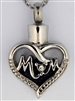 Mom Heart With CZ Cremation Pendant (Chain Sold Separately)