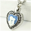 Mother and Child Heart Cremation Pendant (Chain Sold Separately)