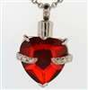 Red Heart Cremation Pendant (Chain Sold Separately)