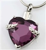 Purple Heart Cremation Pendant (Chain Sold Separately)