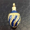 Blue and Gold Egg Cremation Pendant (Chain Sold Separately)