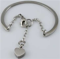 Bangle Cremation Bracelet With Heart