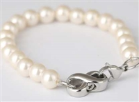 Pearl Cremation Bracelet With Infinity Pendant