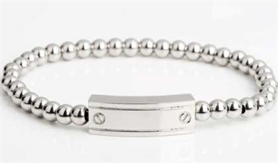 Stainless Steel ID Cremation Bracelet