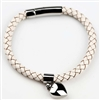Heart Cremation Bracelet With Ivory Band