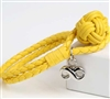 Yellow Cremation Bracelet With Infinity Pendant