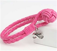Pink Cremation Bracelet With Infinity Pendant