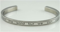 We Cannot Direct the Wind But We Can Adjust The Sails Cremation Bracelet