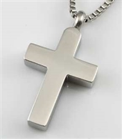 Simple Stainless Steel Cross Cremation Pendant (Chain Sold Separately)