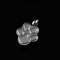 Raised Paw Print Cremation Pendant  (Chain Sold Separately)
