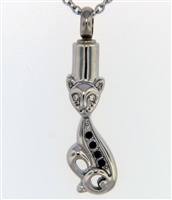 Funky Cat Cremation Pendant (Chain Sold Separately)
