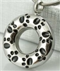 Paw Prints Around Pendant Cremation Pendant (Chain Sold Separately)