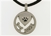 Round I Love My Pet Cremation Pendant (Chain Sold Separately)