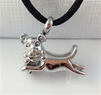 Dog Playing With Bone Cremation Pendant (Chain Sold Separately)