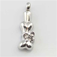 Ribbon Around Dog Bone Cremation Pendant (Chain Sold Separately)