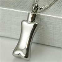 Simple Stainless Steel Bone Cremation Pendant (Chain Sold Separately)