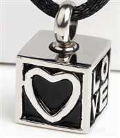 Love Cube Cremation Pendant (Chain Sold Separately)