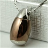 Brown and Silver Egg Cremation Pendant (Chain Sold Separately)