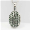 Emerald Green Oval Pendant Cremation Pendant (Chain Sold Separately)