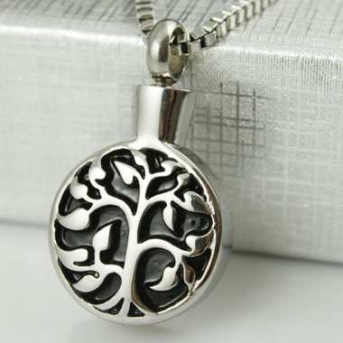 Tree Of Life on Round Cremation Pendant (Chain Sold Separately)
