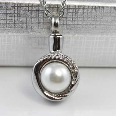 Wrap Around Pearl Cremation Pendant (Chain Sold Separately)