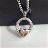 Small Ring With Heart Cremation Pendant (Chain Sold Separately)