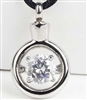 Around Large CZ Cremation Pendant (Chain Sold Separately)