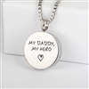 My Daddy My Hero Round Cremation Pendant (Chain Sold Separately)