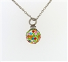 Colorful Round Ball Cremation Pendant (Chain Sold Separately)
